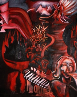 "Oil on Canvas 36""x 48"" 2003 sold"