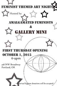 feminist art show flier bw