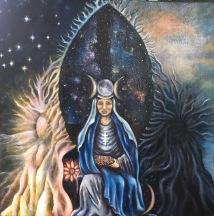 high priestess, oil on canvas, 2019